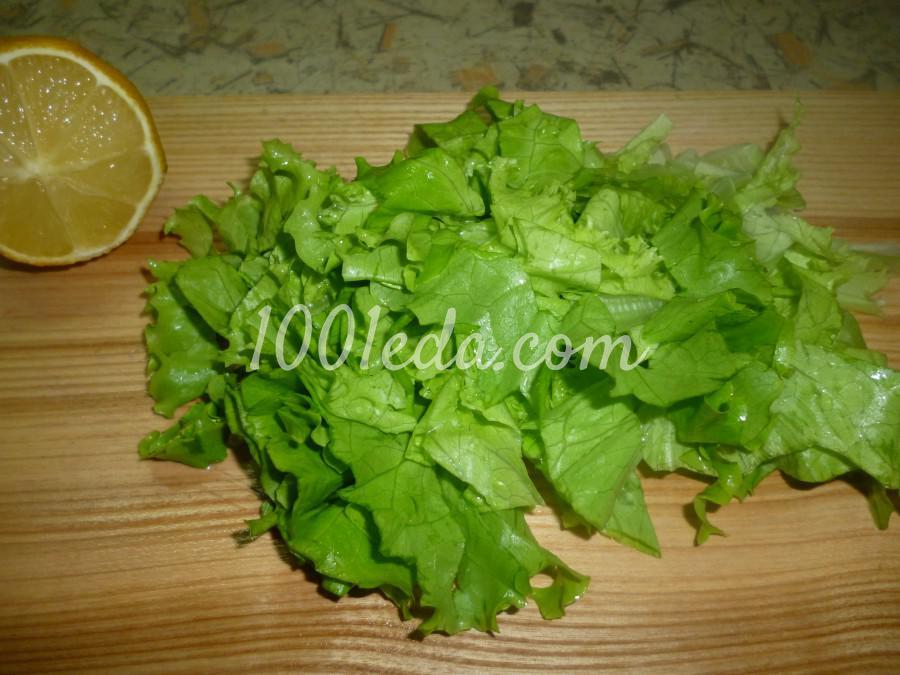 Капустный салат с черемшой: рецепт с пошаговым фото - Шаг №4