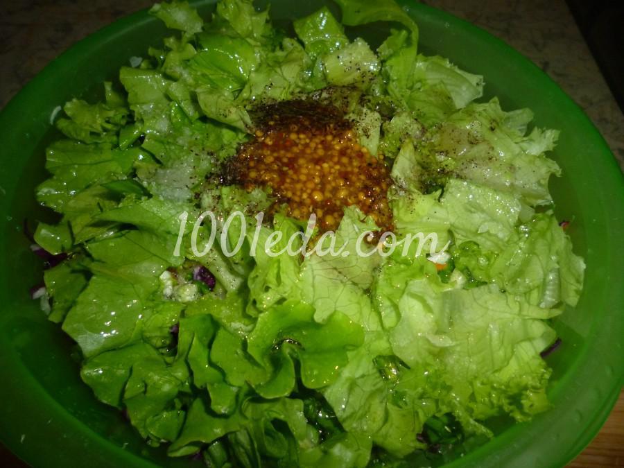 Капустный салат с черемшой: рецепт с пошаговым фото - Шаг №5