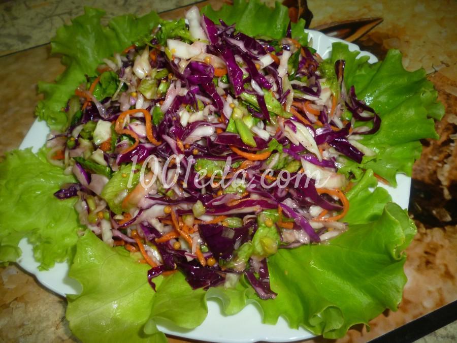 Капустный салат с черемшой: рецепт с пошаговым фото - Шаг №6