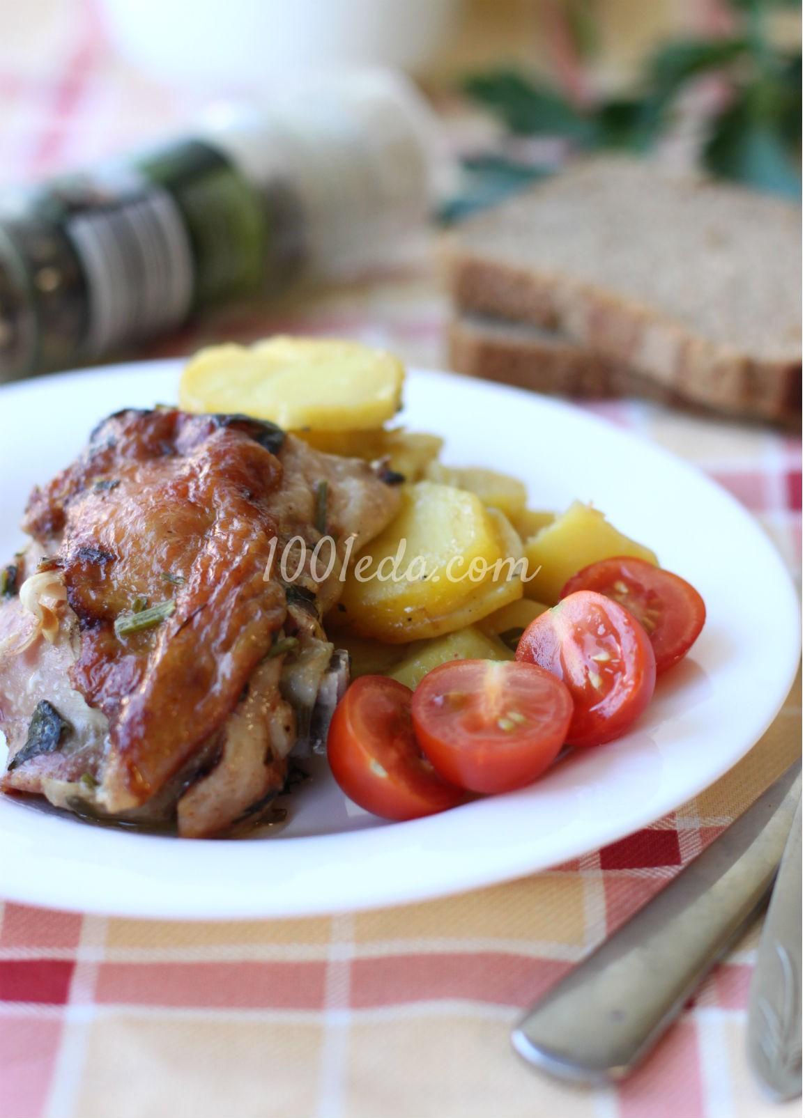 Картофель с куриными бедрами, запеченные в мультиварке: рецепт с пошаговым фото - Шаг №5