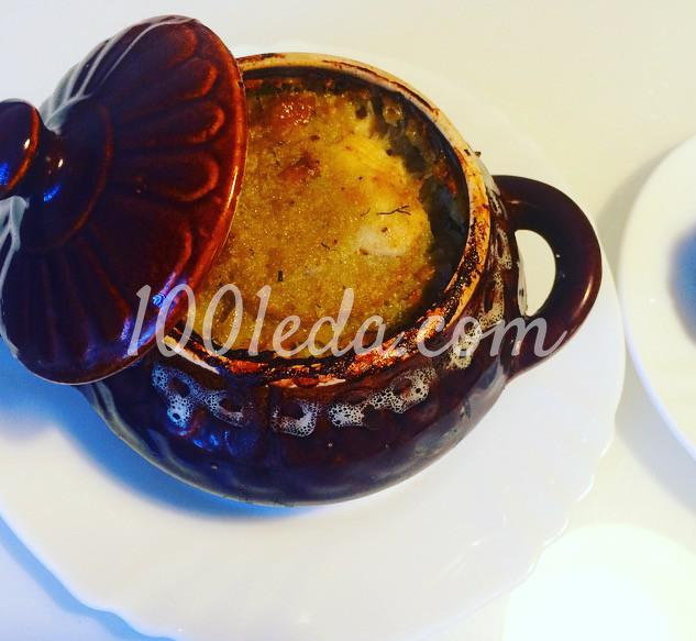 Картофельная бабка с курицей и грибами в глиняном горшочке: рецепт с пошаговым фото - Шаг №10