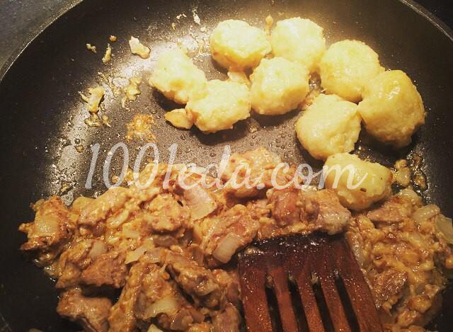 Картофельные клёцки с мясной зажаркой: пошаговый с фото - Шаг №6