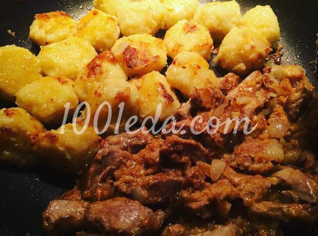 Картофельные клёцки с мясной зажаркой: пошаговый с фото - Шаг №7