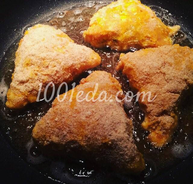 Котлеты По-королевски из куриного филе с ветчиной и сыром: пошаговое фото - Шаг №5