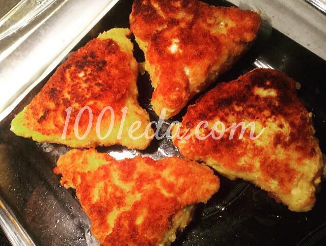 Котлеты По-королевски из куриного филе с ветчиной и сыром: пошаговое фото - Шаг №6