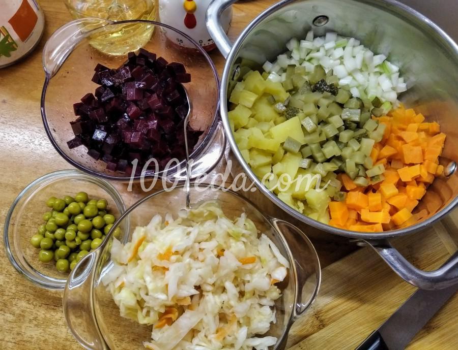 Красивый и вкусный салат - мой Винегрет: пошаговый с фото - Шаг №3