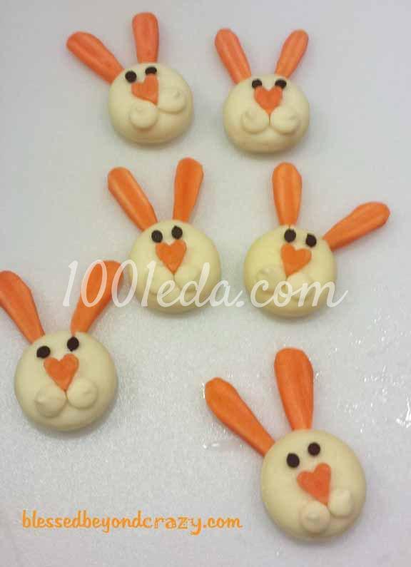 Кролики из сыра Бэбибэл: рецепт с пошаговым фото - Шаг №5