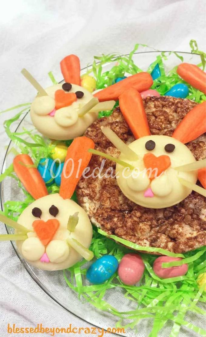 Кролики из сыра Бэбибэл: рецепт с пошаговым фото - Шаг №6