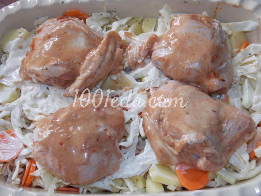 Курица на овощной подушке: рецепт с пошаговым фото - Шаг № 4