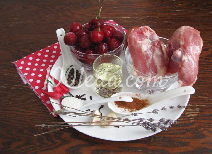Курица с вишневым соусом: пошаговое фото - Шаг №1