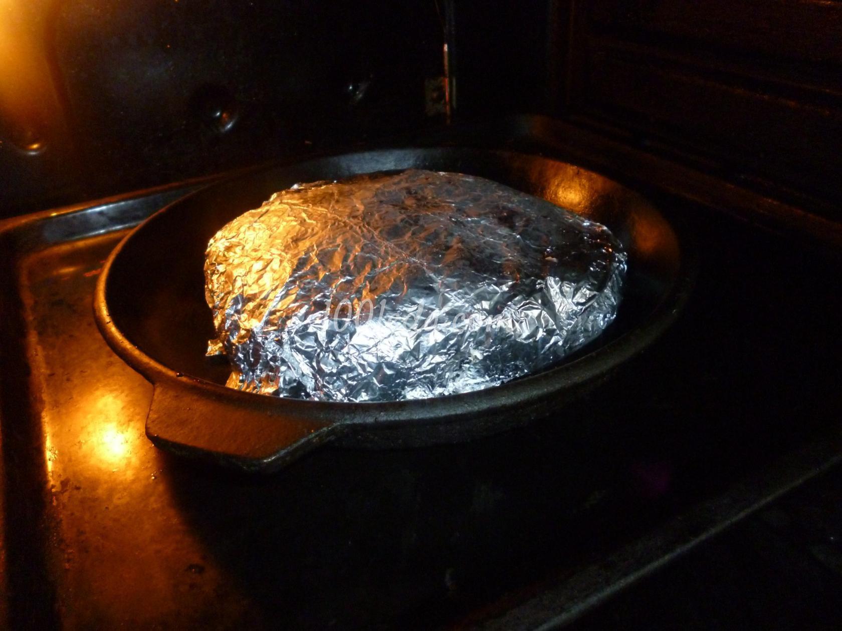 приготовить свиную грудинку в фольге в духовке рецепт
