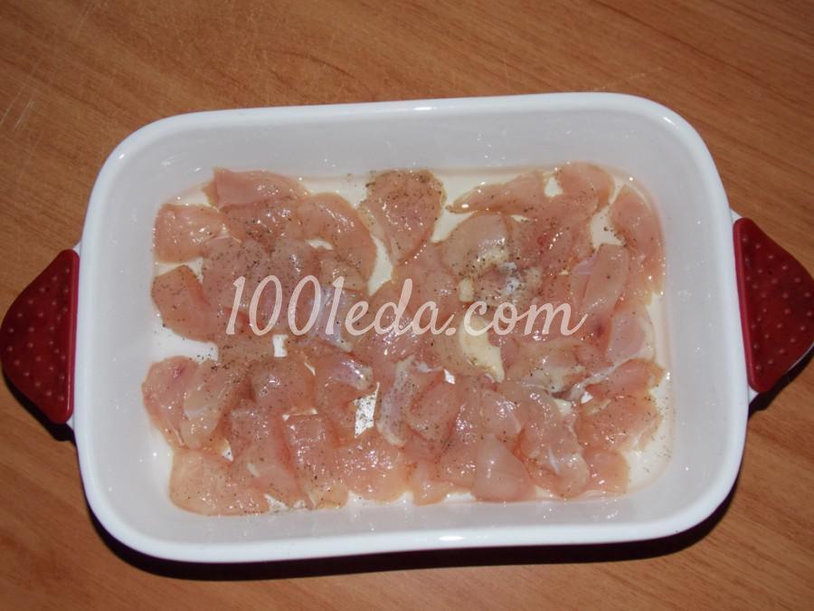 Куриное филе, запечённое под омлетом: рецепт с пошаговым фото - Шаг №1