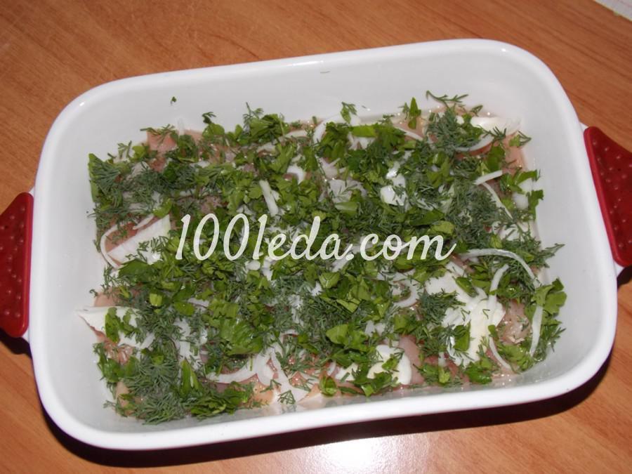 Куриное филе, запечённое под омлетом: рецепт с пошаговым фото - Шаг №3