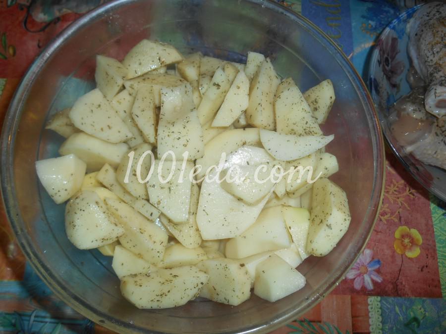 Куриные голени с картофелем, запечённые в рукаве: пошаговое фото - Шаг №2
