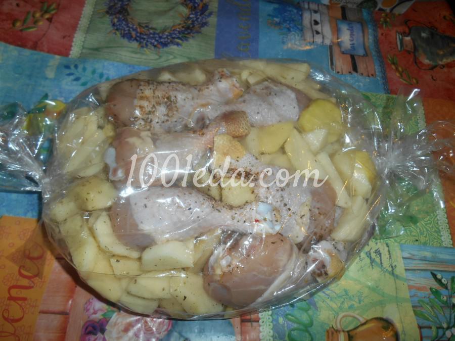Куриные голени с картофелем, запечённые в рукаве: пошаговое фото - Шаг №4