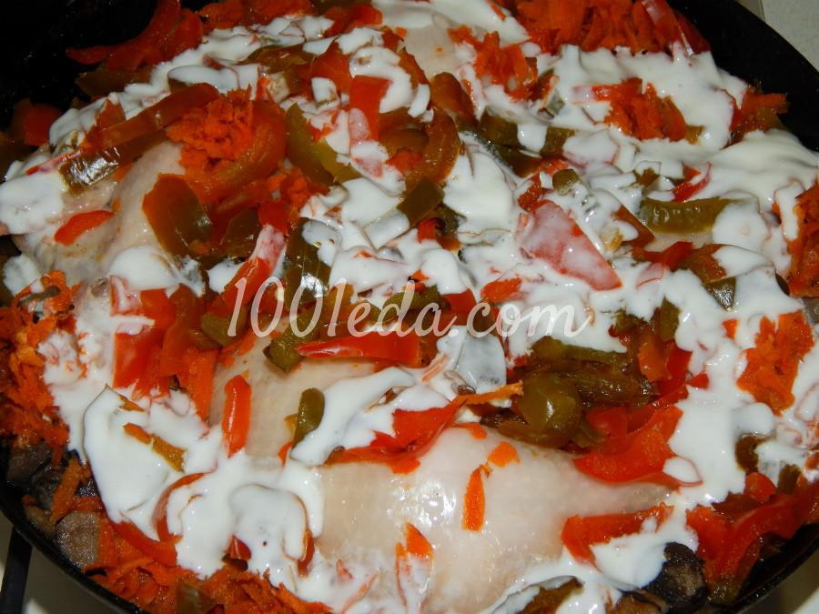 Куриные ножки с грибами и овощами: пошаговое фото - Шаг №4