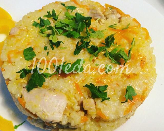Пикантный рис с курицей и морковью по-корейски в мультиварке