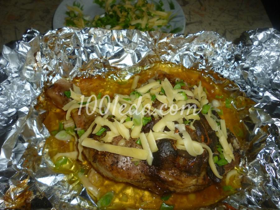 Ленивый фаршированный грибами окорочок в духовке: рецепт с пошаговым фото - Шаг №8