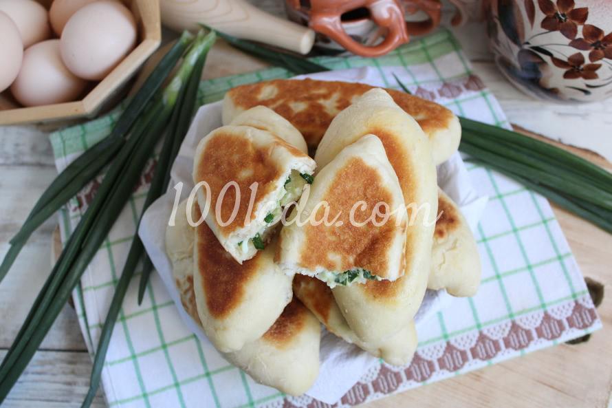 Летние пирожки с зеленым луком и яйцом: пошаговое фото - Шаг №7