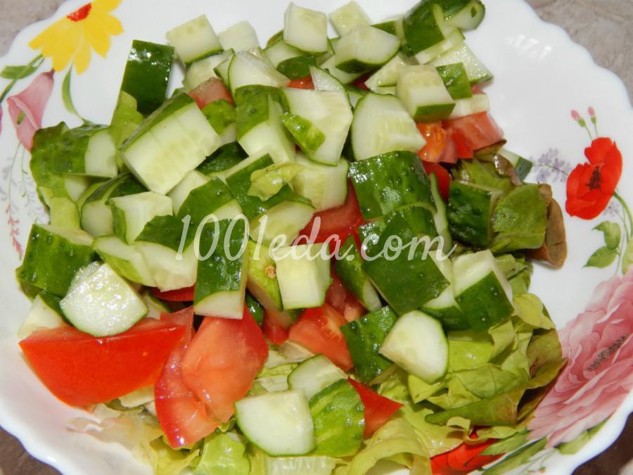 Летний легкий овощной салат с зеленью: пошаговый с фото - Шаг №3