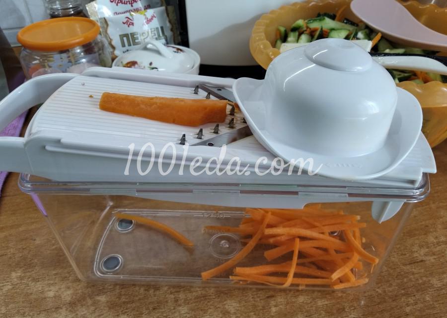 Летний салат из свежих огурцов «Пальчики оближешь!»: пошаговый с фото - Шаг №3