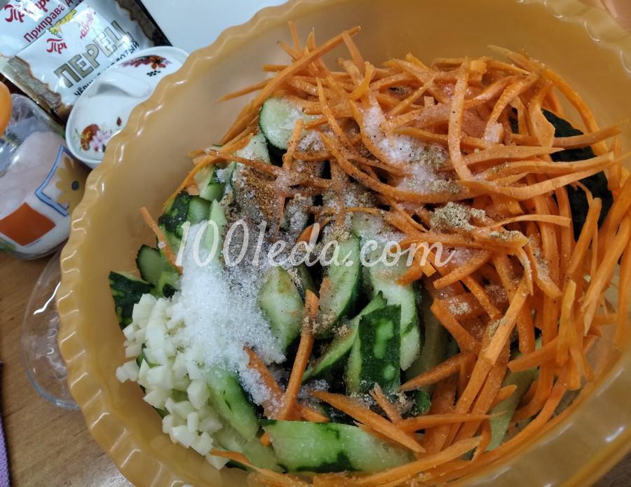 Летний салат из свежих огурцов «Пальчики оближешь!»: пошаговый с фото - Шаг №5