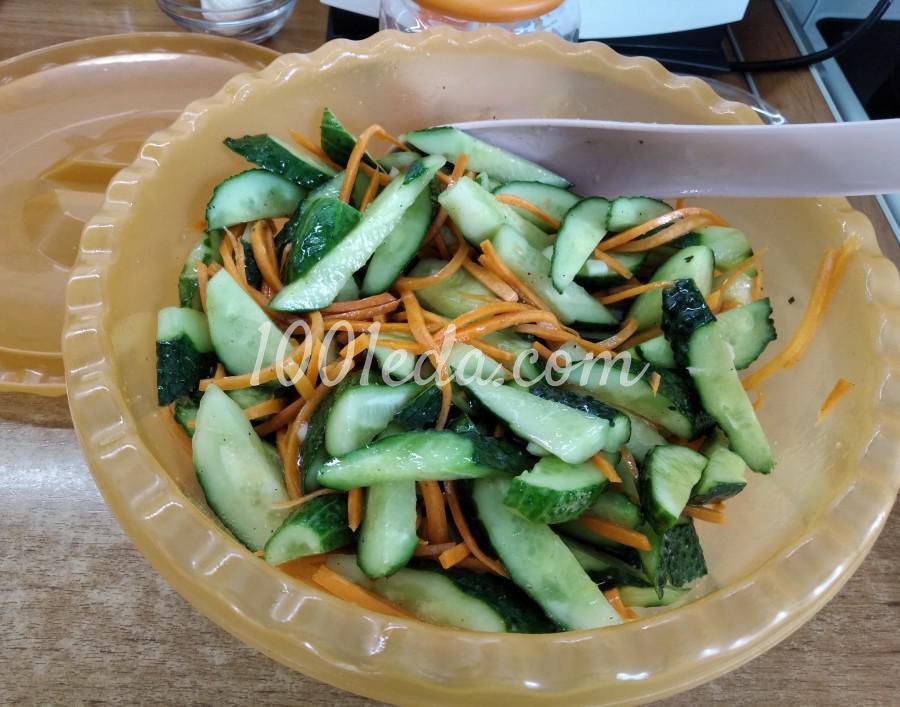 Летний салат из свежих огурцов «Пальчики оближешь!»: пошаговый с фото - Шаг №6