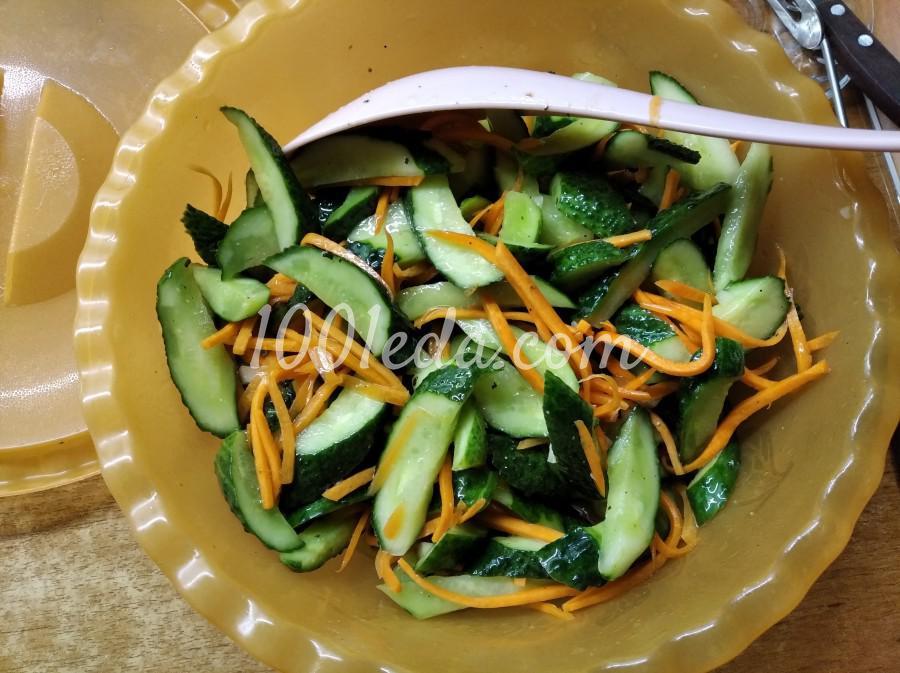 Летний салат из свежих огурцов «Пальчики оближешь!»: пошаговый с фото - Шаг №7