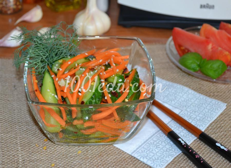 Летний салат из свежих огурцов «Пальчики оближешь!»: пошаговый с фото - Шаг №8