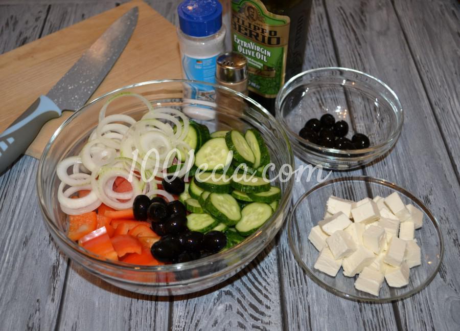 Любимый летний салат «Греческий»: пошаговое фото - Шаг №2