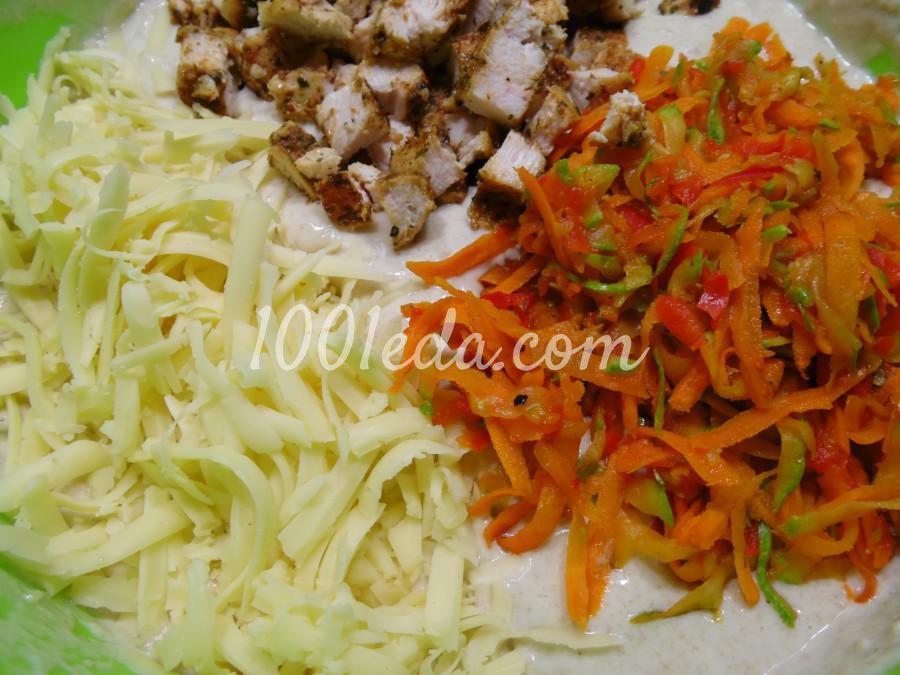 Маффины с овощами и курицей: пошаговый с фото - Шаг №5
