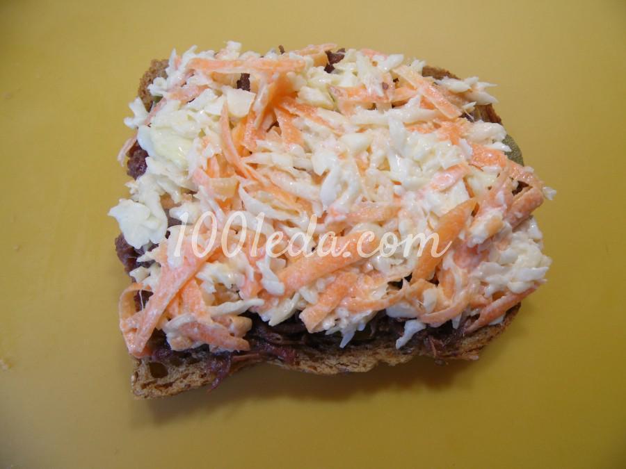 Мужской бутерброд с тушенкой: рецепт с пошаговым фото - Шаг №5