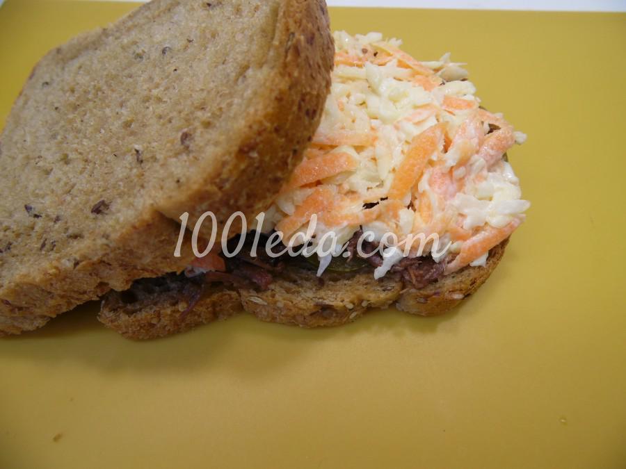 Мужской бутерброд с тушенкой: рецепт с пошаговым фото - Шаг №6
