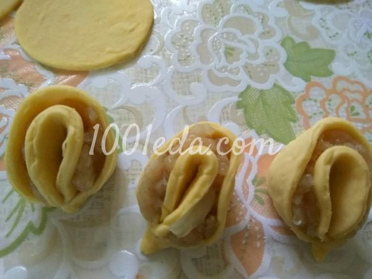 Мясной пирог Хризантема: рецепт с пошаговым фото - Шаг №6