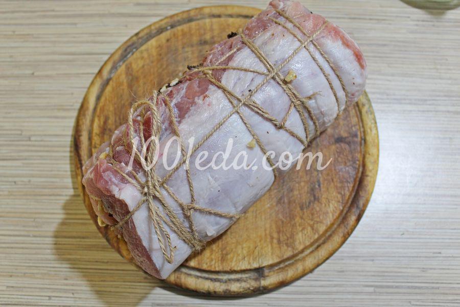 Мясной рулет с черносливом: пошаговый с фото - Шаг №7
