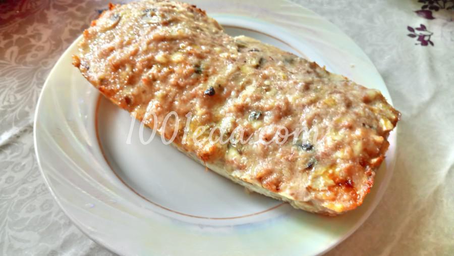 Мясной хлеб с шампиньонами и сыром: рецепт с пошаговым фото - Шаг №5