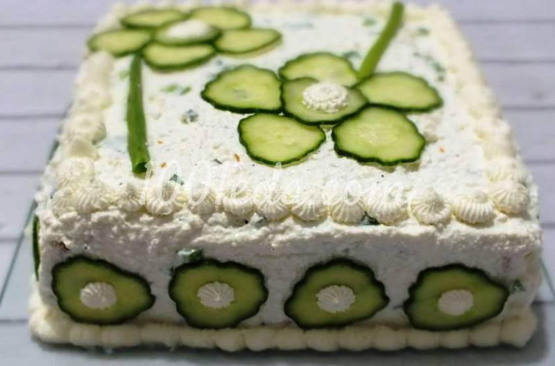 Необычный торт из хлеба с творогом к Новогоднему столу