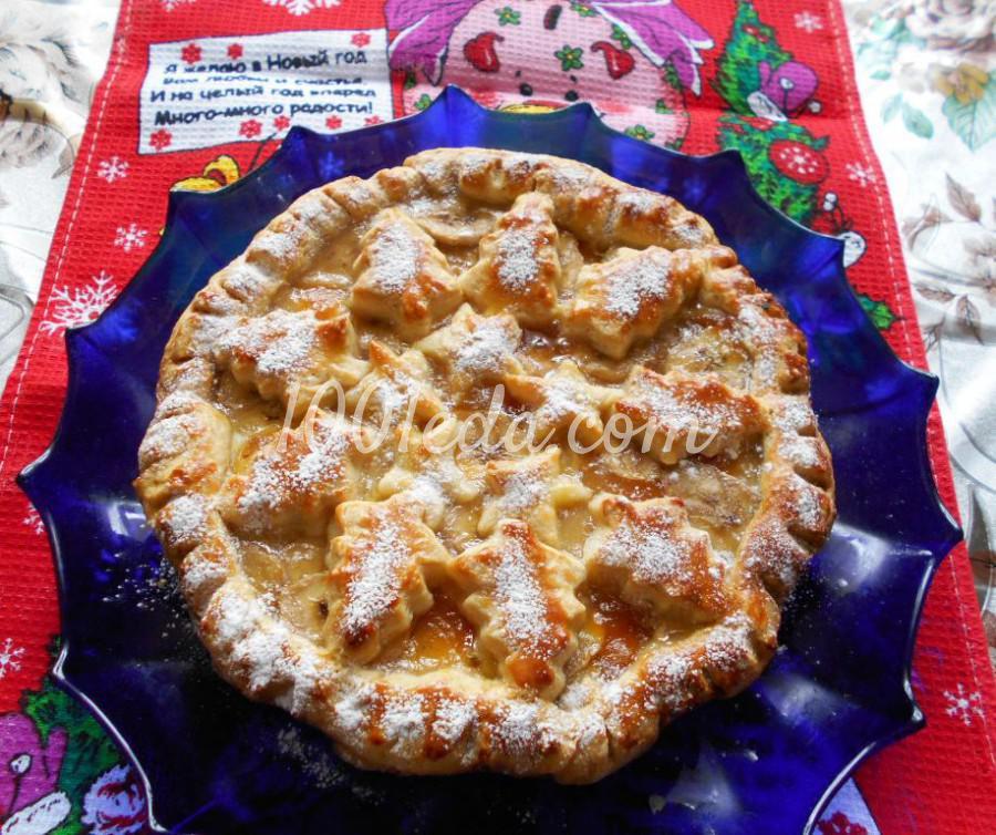 Новогодний пирог на сметане Ёлочки-сосёночки: пошаговый с фото - Шаг №9
