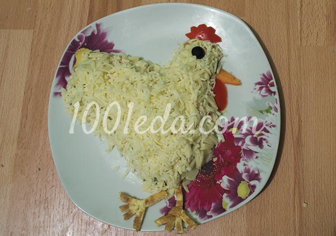 Салат из яичных блинчиков с курицей - пошаговый рецепт ...