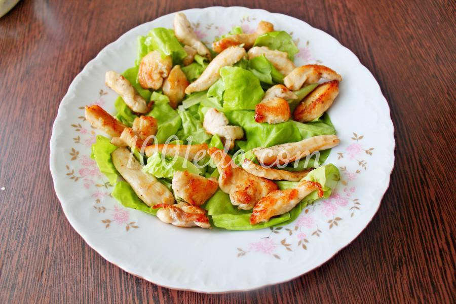Новогодний салат с мандаринами и курицей: пошаговый с фото - Шаг №5