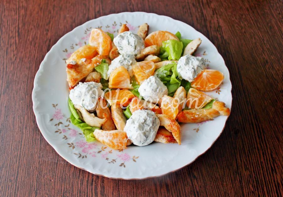 Новогодний салат с мандаринами и курицей: пошаговый с фото - Шаг №7