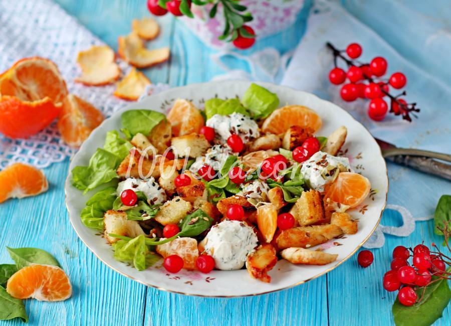 Новогодний салат с мандаринами и курицей: пошаговый с фото - Шаг №8