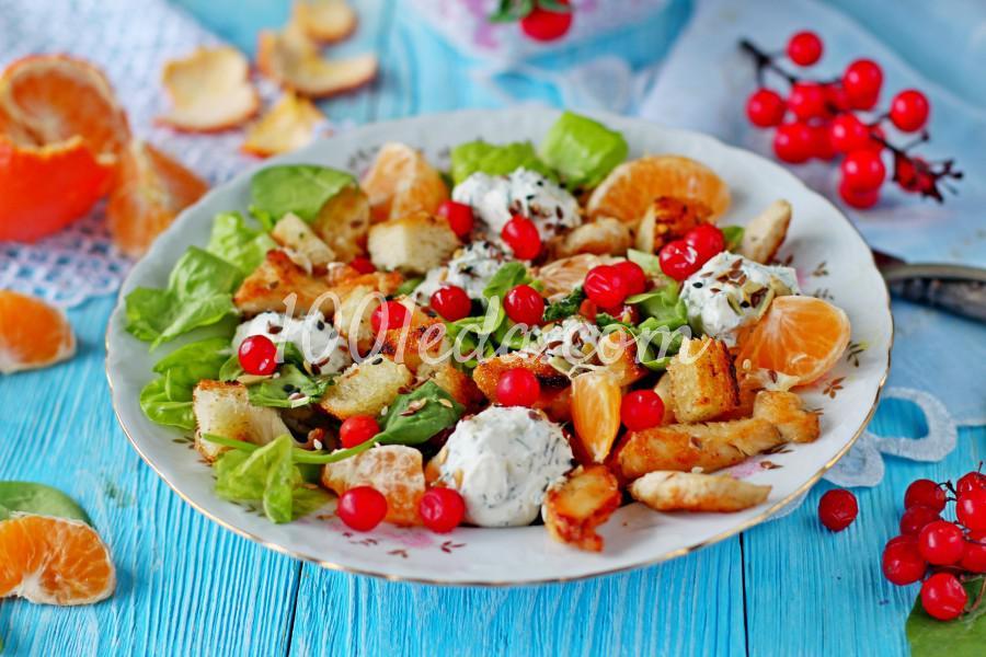 Новогодний салат с мандаринами и курицей: пошаговый с фото - Шаг №9