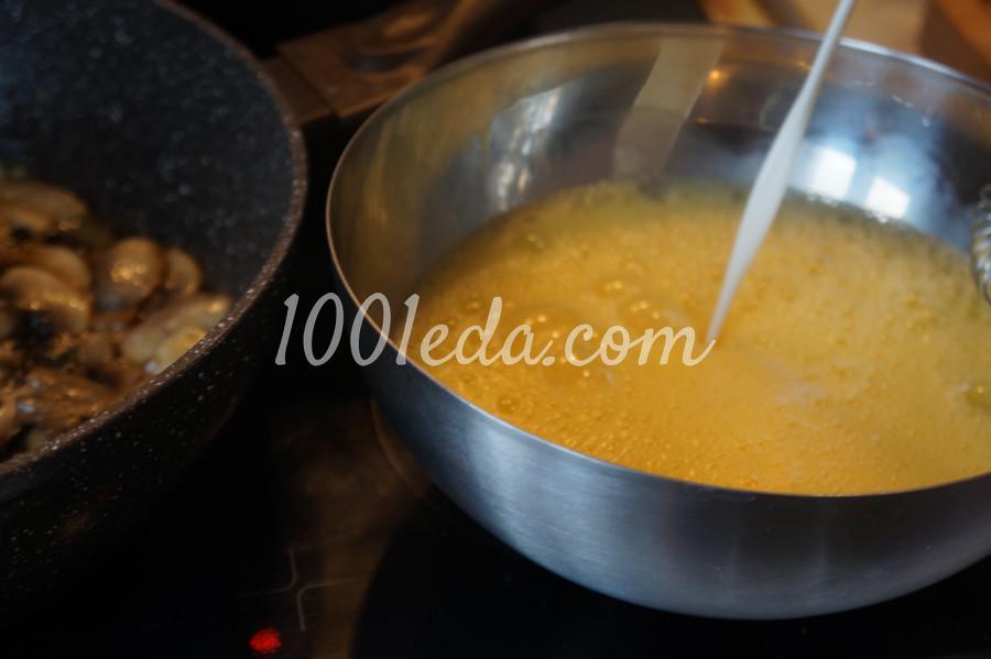 Омлет с грибами и луком: рецепт с пошаговым фото - Шаг №4