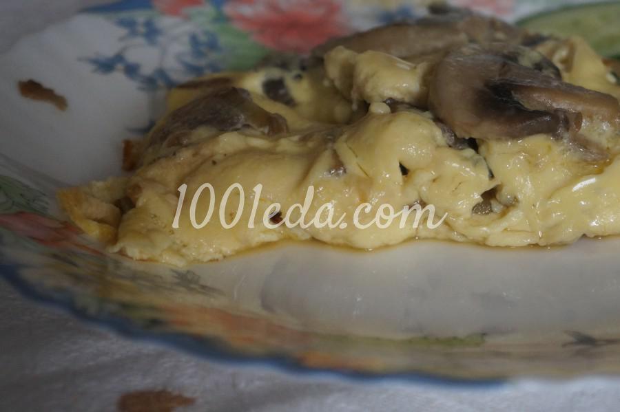 Омлет с грибами и луком: рецепт с пошаговым фото - Шаг №7