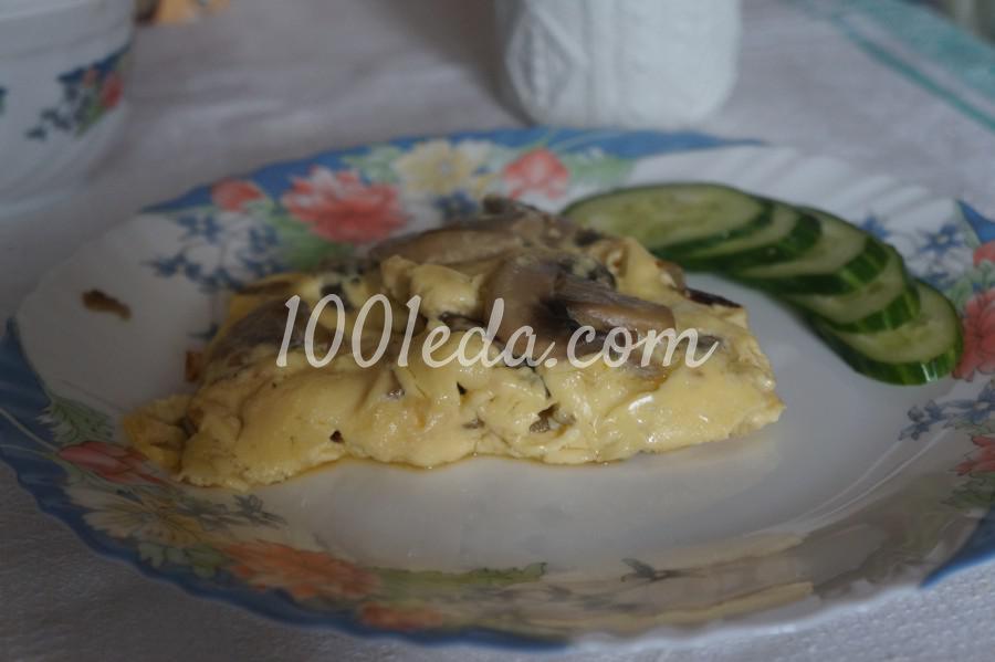 Омлет с грибами и луком: рецепт с пошаговым фото - Шаг №8