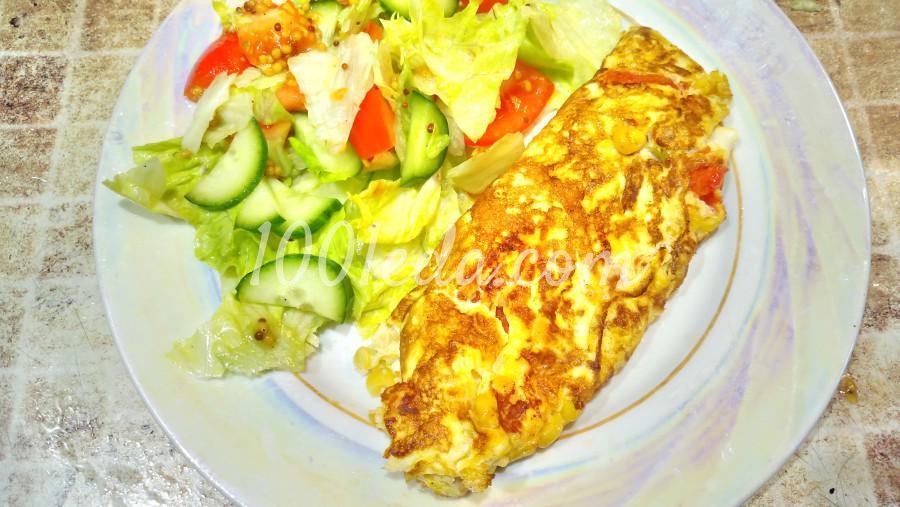 Омлет с помидорами и кукурузой: рецепт с пошаговым фото - Шаг №3