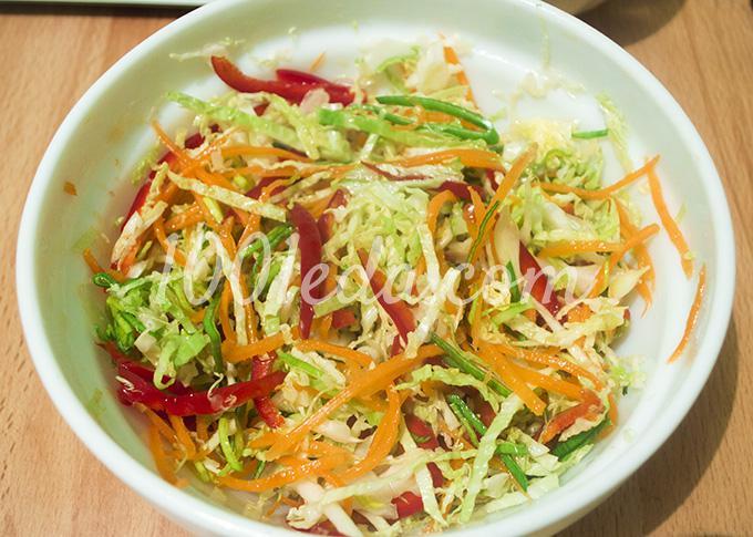 салат с капустой с луком
