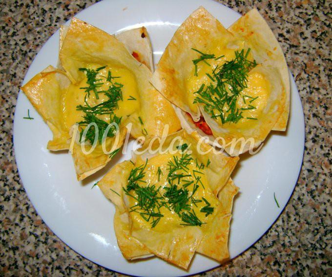 Корзинки из лаваша с мясным фаршем и сыром: рецепт с пошаговым фото
