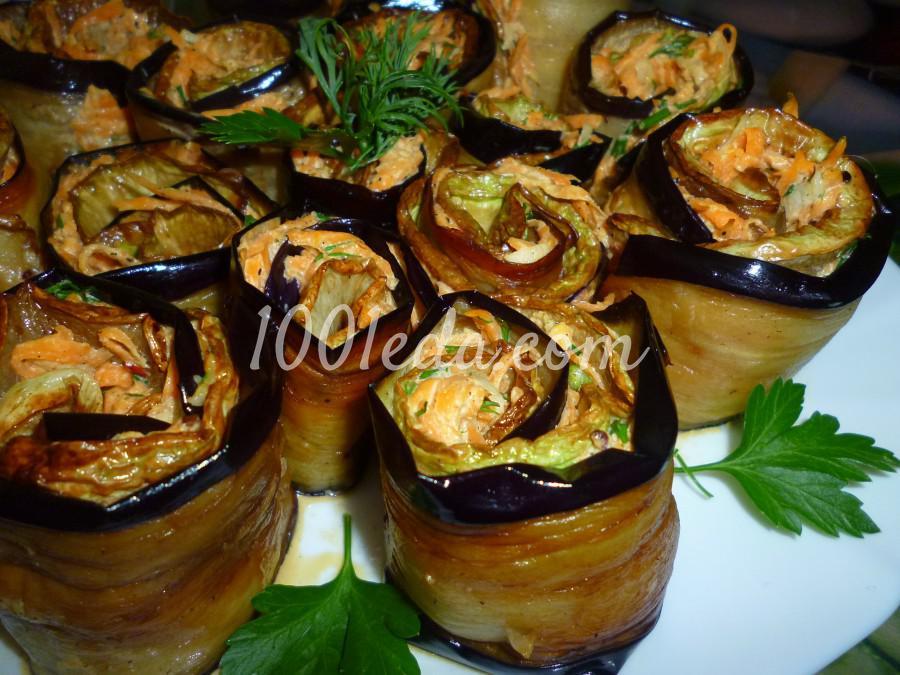 Овощная закуска из кабачка, баклажана и моркови: пошаговое фото - Шаг №14